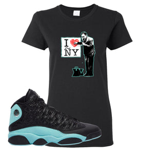 I Heart ÑY Doctor Black Women's T-Shirt To Match Jordan 13 Island Green Sneakers