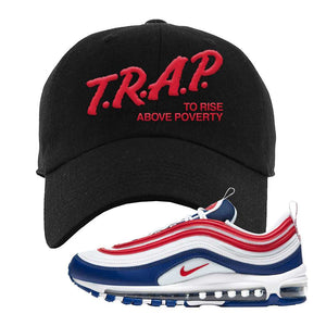 Air Max 97 USA Dad Hat | Black, Trap To Rise Above Poverty