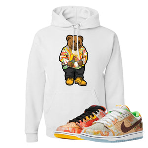 SB Dunk Low Street Hawker Hoodie | Sweater Bear, White