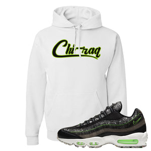 Air Max 95 Black / Electric Green Hoodie | Chiraq, White