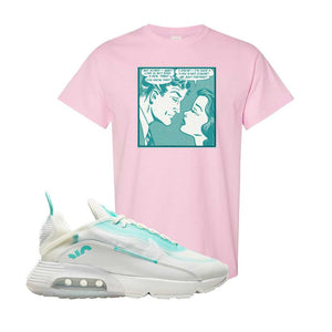 Air Max 2090 Pristine Green T Shirt | Light Pink, Fake Love Comic