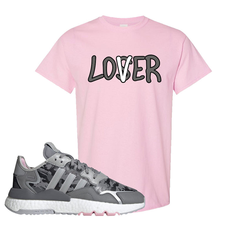 WMNS Nite Jogger True Pink Camo T Shirt | Light Pink, Lover