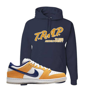 SB Dunk Low Laser Orange Hoodie | Navy, Trap To Rise Above Poverty