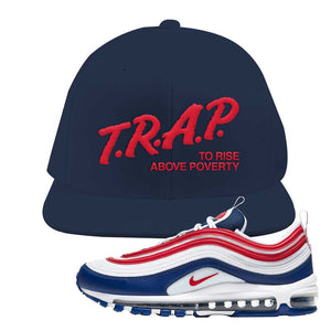Air Max 97 USA Snapback Hat | Navy Blue, Trap To Rise Above Poverty