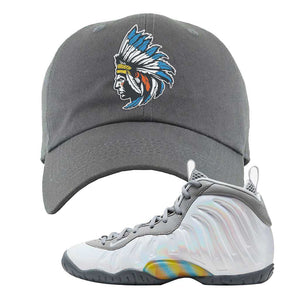 Lil Posite One Rainbow Pixel Dad Hat | Dark Gray, Indian Chief