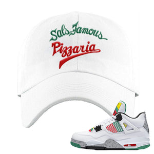 Jordan 4 WMNS Carnival Sneaker White Dad Hat | Hat to match Do The Right Thing 4s | Sal's Famous Pizzeria