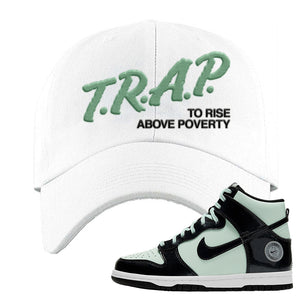 Dunk High All Star 2021 Dad Hat | Trap To Rise Above Poverty, White
