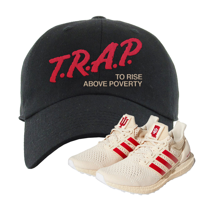 Adidas Ultra Boost 1.0 Indiana Dad Hat | Trap To Rise Above Poverty, Black