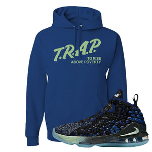 LeBron 17 Constellations Hoodie | Trap To Rise Above Poverty, Royal Blue