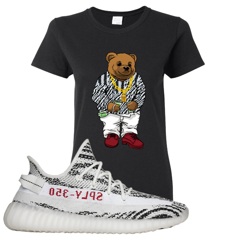 Yeezy 350 V2 Zebra Women's T Shirt | Black, Biggie Bear