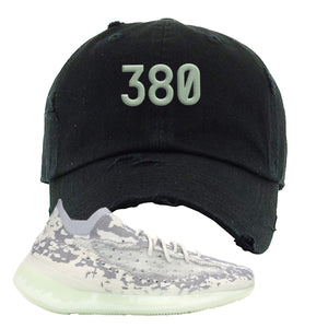 Yeezy 380 Alien Distressed Dad Hat | Black, 380