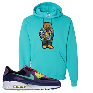 Air Max 90 Cheetah Hoodie | Sweater Bear, Scuba Blue