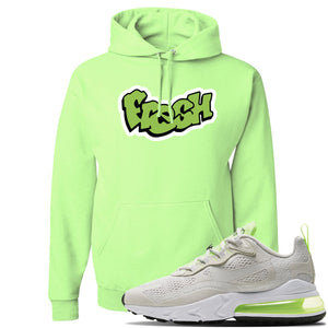 Air Max 270 React Ghost Green Sneaker Neon Green Pullover Hoodie | Hoodie to match Nike Air Max 270 React Ghost Green Shoes | Fresh