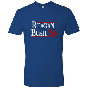 Standard Issue Reagan Bush '84 Royal Blue Grunt Life T-Shirt