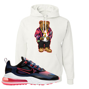 Air Max 270 React WMNS Storm Pink Pullover Hoodie | Sweater Bear, White