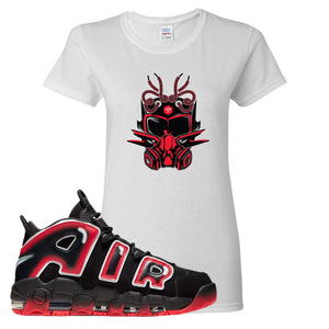 Air More Uptempo Laser Crimson Sneaker Future Mask White Sneaker Hook Up Women's T-Shirt