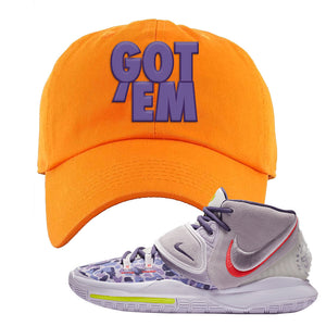 Kyrie 6 Asia Irving Dad Hat | Got Em, Orange