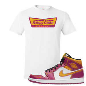 Air Jordan 1 Mid Familia T Shirt | Krispy Kicks, White