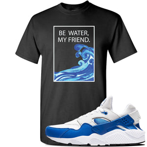 Huarache DNA Series T Shirt | Black, Be Water My Friend Wave