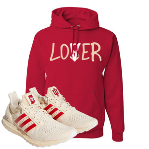 Adidas Ultra Boost 1.0 Indiana Pullover Hoodie | Lover, Red