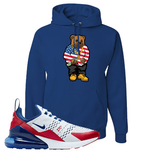 Air Max 270 USA Hoodie | Royal Blue, Sweater Bear