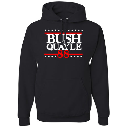 Standard Issue Bush Quayle 88' Black Pullover Grunt Life Hoodie