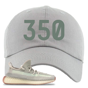 Yeezy Boost 350 V2 Citrin Non-Reflective 350 Light Gray Sneaker Matching Dad Hat