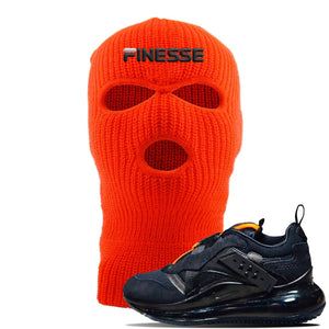 Air Max 720 OBJ Slip Sneaker Safety Orange Ski Mask | Hat to match Nike Air Max 720 OBJ Slip Shoes | Finesse