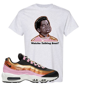 Air Max 95 WMNS Copper and Gold T Shirt | Watchu Talkin Bout, Ash