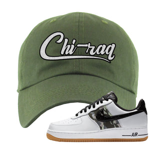 Air Force 1 Low Camo Dad Hat | Chiraq, Olive