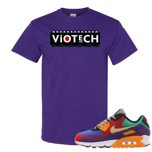 Printed on the front of the Viotech Air Max 97 Purple t-shirt is the viotech martin logo