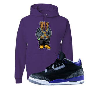 Air Jordan 3 Court Purple Hoodie | Sweater Bear, Deep Purple