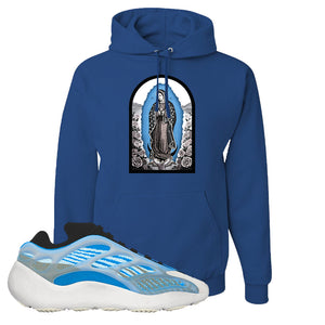 Yeezy 700 v3 Azareth Hoodie | Royal Blue, Virgin Mary