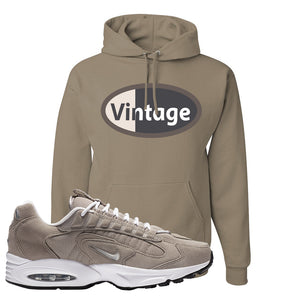 Air Max Triax 96 Grey Suede Hoodie | Vintage Oval, Khaki