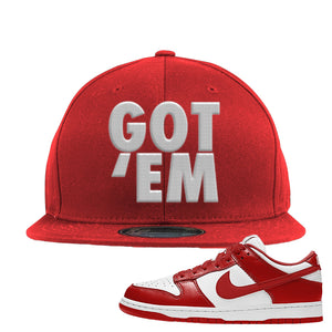 SB Dunk Low St. Johns Snapback Hat | Got Em, Red