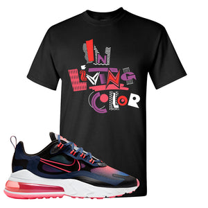 Air Max 270 React WMNS Storm Pink T Shirt | In Living Colors, Black