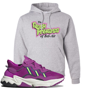 Ozweego Vivid Pink Sneaker Ash Pullover Hoodie | Hoodie to match Adidas Ozweego Vivid Pink Shoes | Fresh Princess of Bel Air