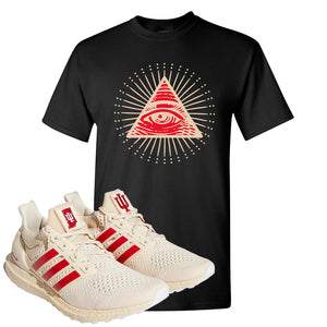 Adidas Ultra Boost 1.0 Indiana T-Shirt | All Seeing Eye, Black