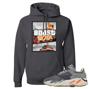 Yeezy Boost 700 Magnet GTA Cover Charcoal Sneaker Matching Pullover Hoodie