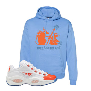 Question Low Vivid Orange Hoodie | Carolina Blue, Army Rats