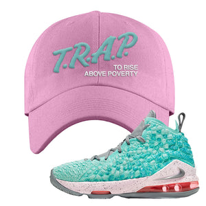 Lebron 17 South Beach Dad Hat | Trap to Rise Above Poverty, Pink