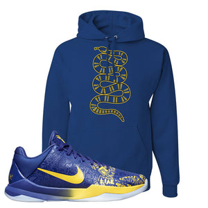 Kobe 5 Protro 5 Rings Hoodie | Coiled Snake, Royal Blue