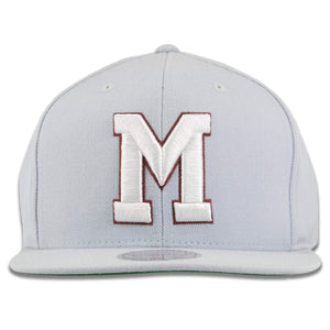 Montreal Maroons Solid Gray Mitchell and Ness Snapback Hat