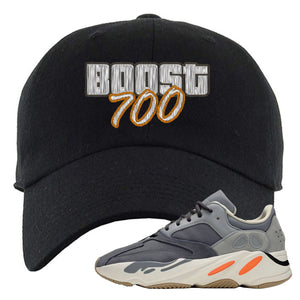 Yeezy Boost 700 Magnet GTA Cover Lettering Black Dad Hat