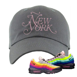 Airmax 95 '20 For 20' Sneaker Dark Gray Dad Hat | Hat to match Nike Airmax 95 '20 For 20' Shoes | Ã'ew York