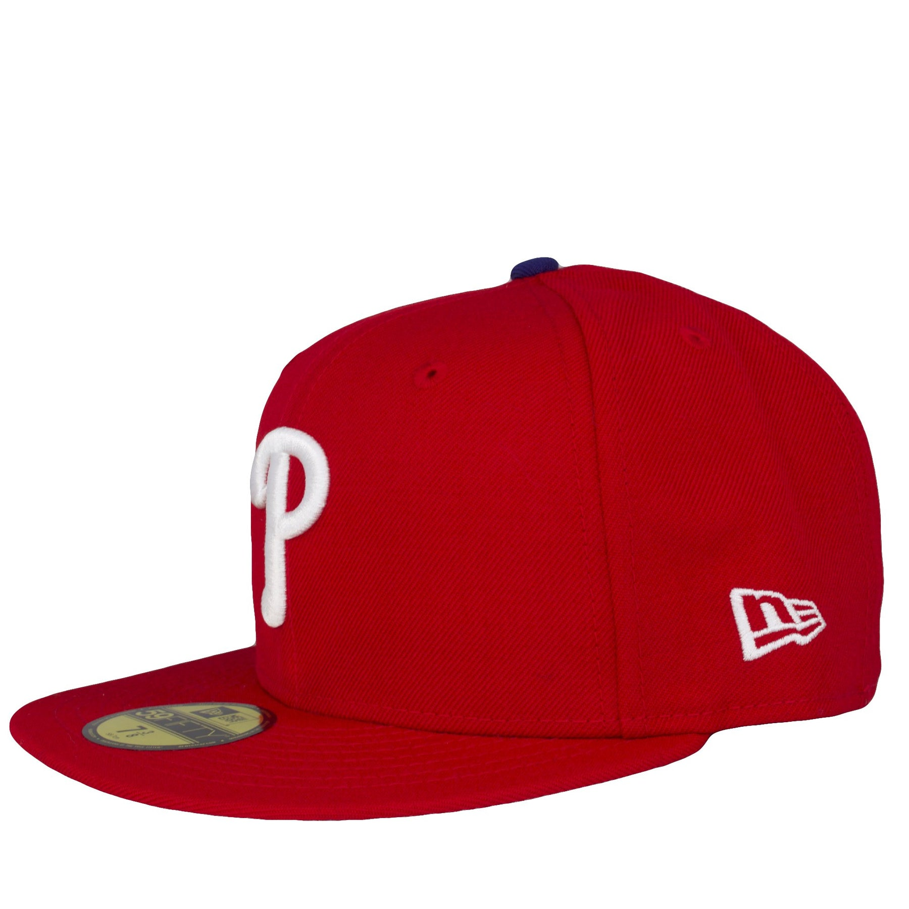 ... on the left side of the philadelphia phillies 2008 world series fitted  cap is the new ... 689e458970d