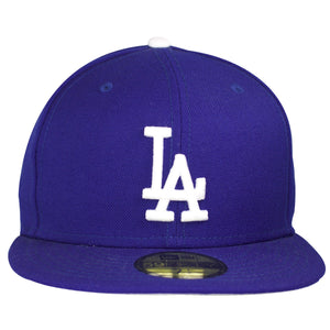 Los Angeles Dodgers logo is heavily embroidered on the front of this 1988 World Series Los Angeles Dodgers fitted hat.