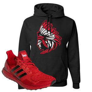 Ultra Boost 1.0 Nebraska Hoodie | Indian Chief, Black