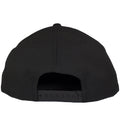 on the back of the philly cheesesteak snapback hat is a black adjustable snap