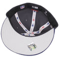 the under brim of the new england patriots made in usa fitted cap is solid gray